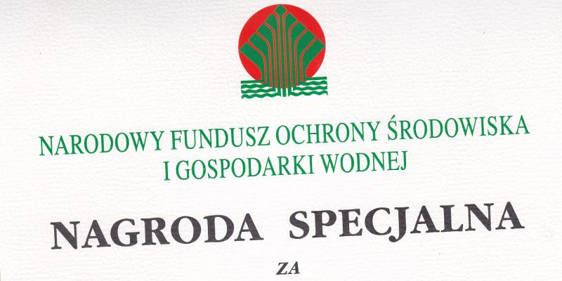 Nagroda Specjalna przyznawana przez Narodowy Fundusz Ochrony Środowiska i Gospodarki Wodnej